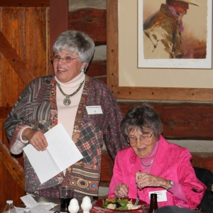Presenters Linda Kirkpatrick and Barbara Sternberg give historical information on Leadership Evergreen and the mountain area at our 2015 class orientation.