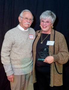 Linda Kirkpatrick, Lifetime Leadership Award, with her husband John