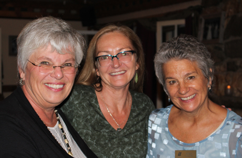Linda Kirpatrick with Kelly Haley and Peggy Eggers