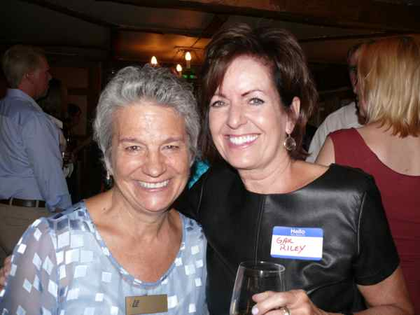 Peggy Eggers and Gail Riley